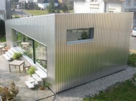 Fassade Industrie-Alublech